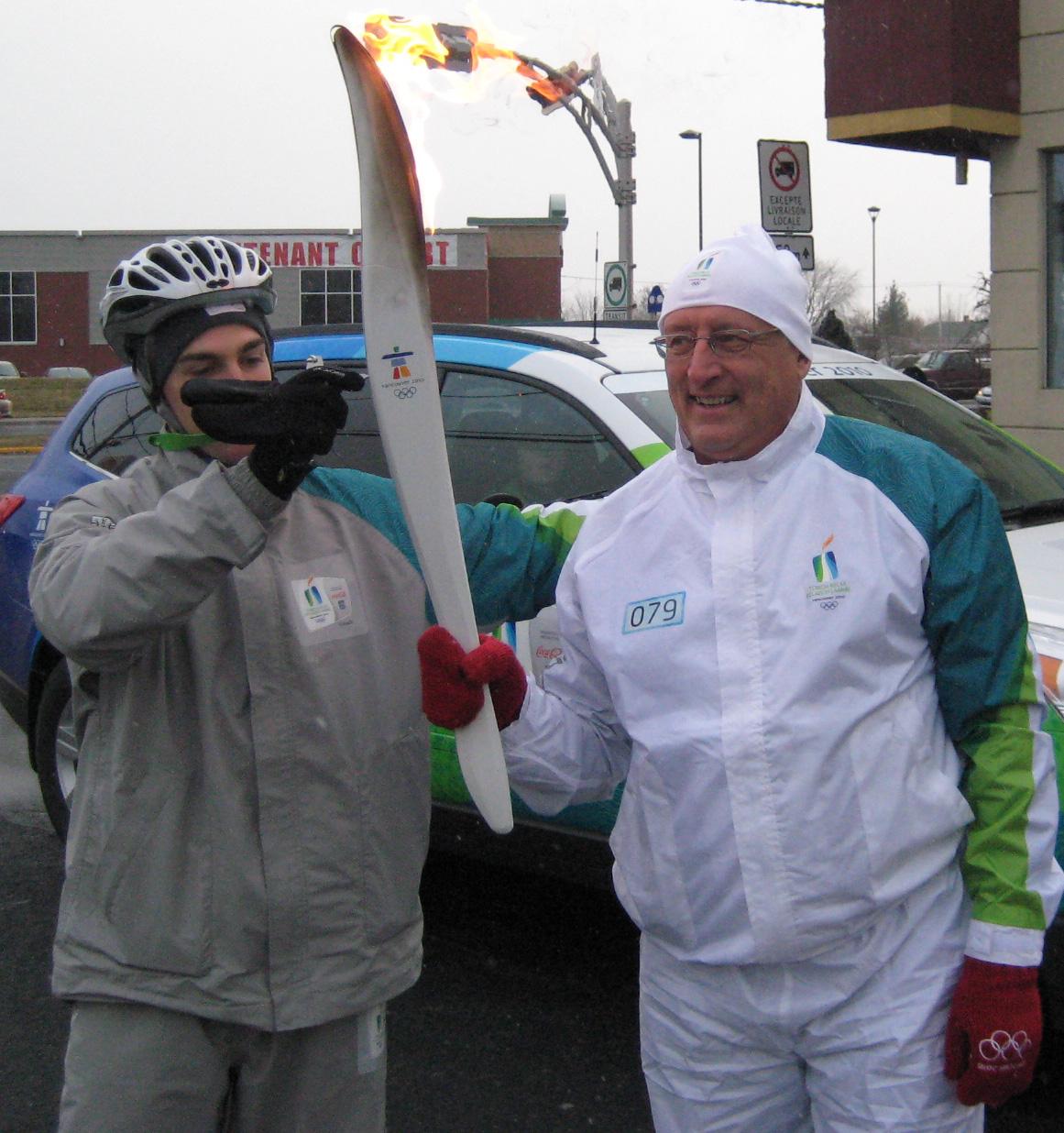 Bernard Voyer Flamme Olympique